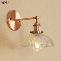 IWHD Vintage LED Wall Lamp Iron Adjustable Loft Wandlamp E27 4W Applique Murale Luminaire Retro Bathroom Light Home Lighting