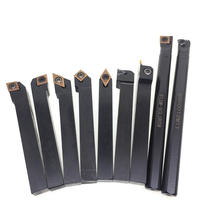 12mm 7pcs/9pcs/10pcs Indexable Hard Alloy Turning Tool Lathe Tool Kits Cutter Cutting Tools Machining Tools CNC Turning Tool