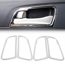 Estilo de coche para Hyundai Solaris accent sedan hatchback 2011-2015 cubierta cromada de manija de puerta interior anillo de decoración pegatina