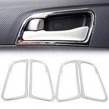 Couverture de poignée de porte chromée pour Hyundai Solaris accent berline hatchback 2011 2015, décoration intérieure, autocollant