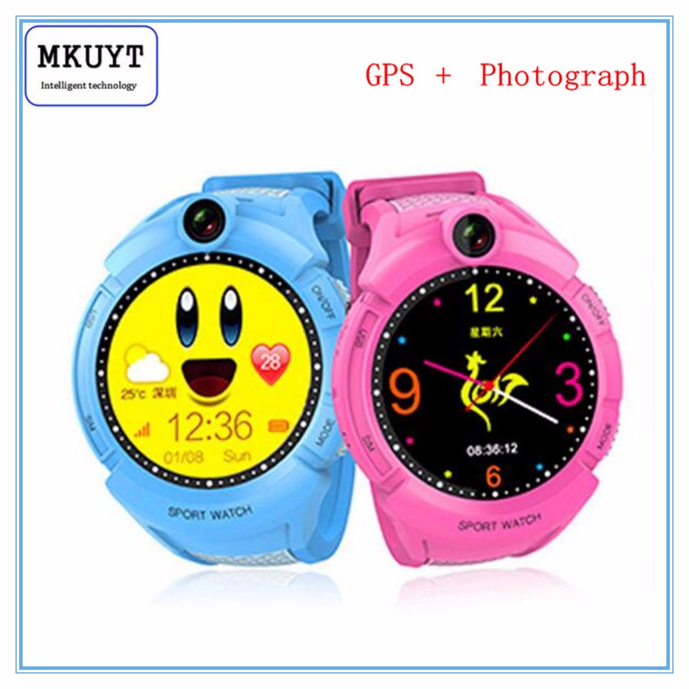 MKUYT GPS Phone Positioning Fashion Children Watch 1 22 Inch Color Touch Screen SOS Smart Watch