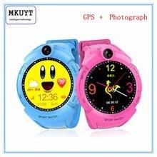 MKUYT GPS Téléphone Positionnement De Mode Enfants Montre 1.22 Pouce Couleur Tactile Écran SOS Montre Intelligente pour tous les smartphonesPK Q80 Q90
