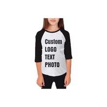 Индивидуальная футболка для девочек подростков с рукавами средней