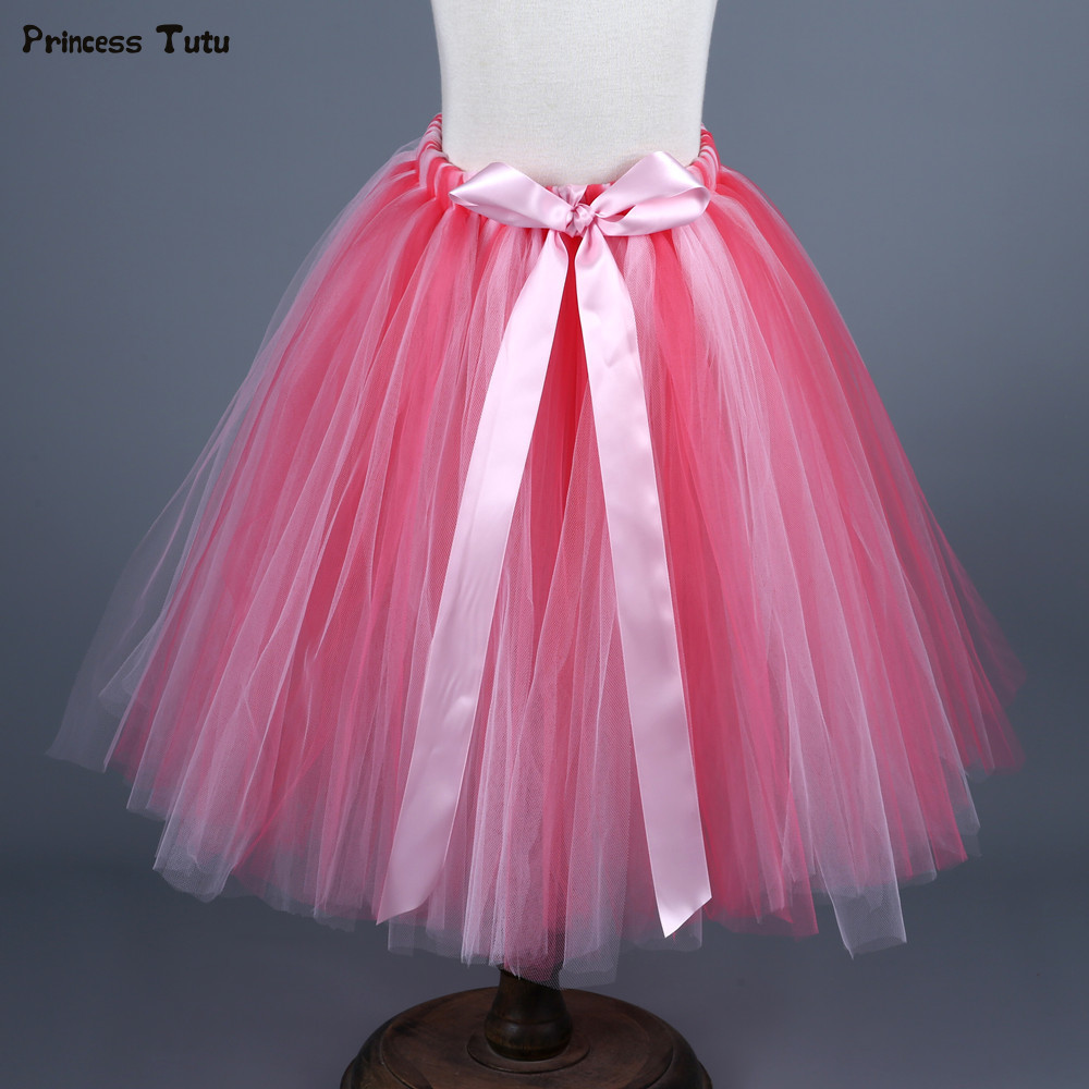 Kids Girls Tutu Skirt Fluffy Ankle-Length Children Ballet Pettiskirt Baby Girl Princess Tulle Party Dance Skirts For Girls 1-14Y hot boots women sexy black thigh high boots peep toe soft leather back zip high heels over the knee boots gladiator sandal boots