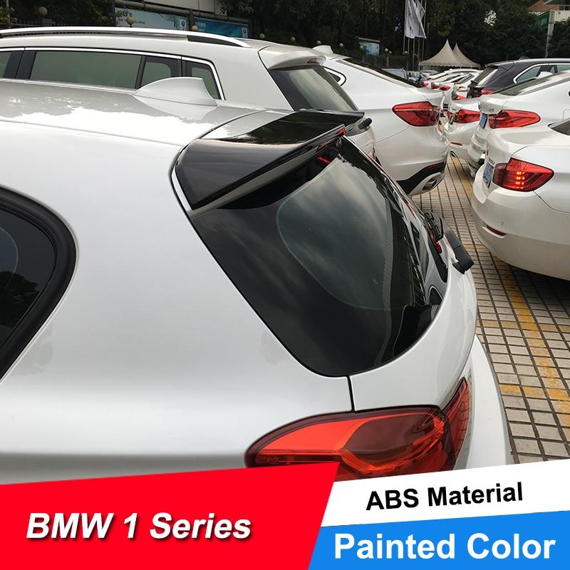 JNCFORURC couvercle de coffre arrière ailes de becquet de voiture pour BMW série 1 hayon F20 116 118 125 135 ABS becquet de toit de voiture pour BMW série 1