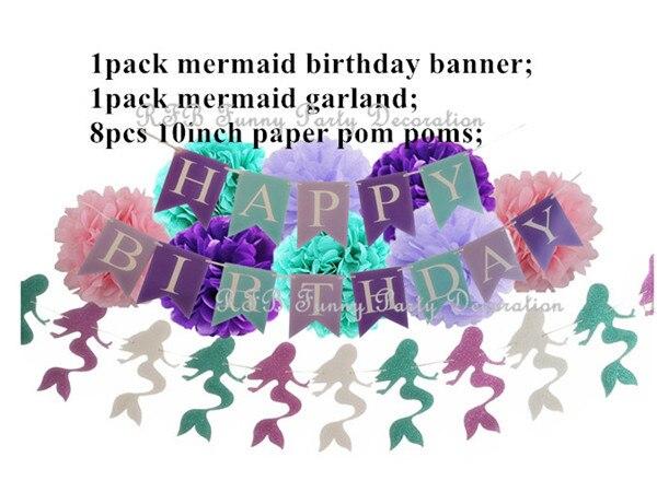 SET 2 Mermaid party plates 5c64f5cb30777