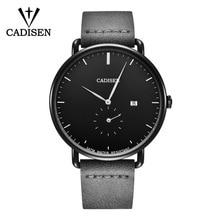 купить CADISEN Men's Watches New Luxury Brand Watch Men Fashion Sports Quartz Watch Retro Man Calual Leather Wristwatch Reloj Hombre онлайн