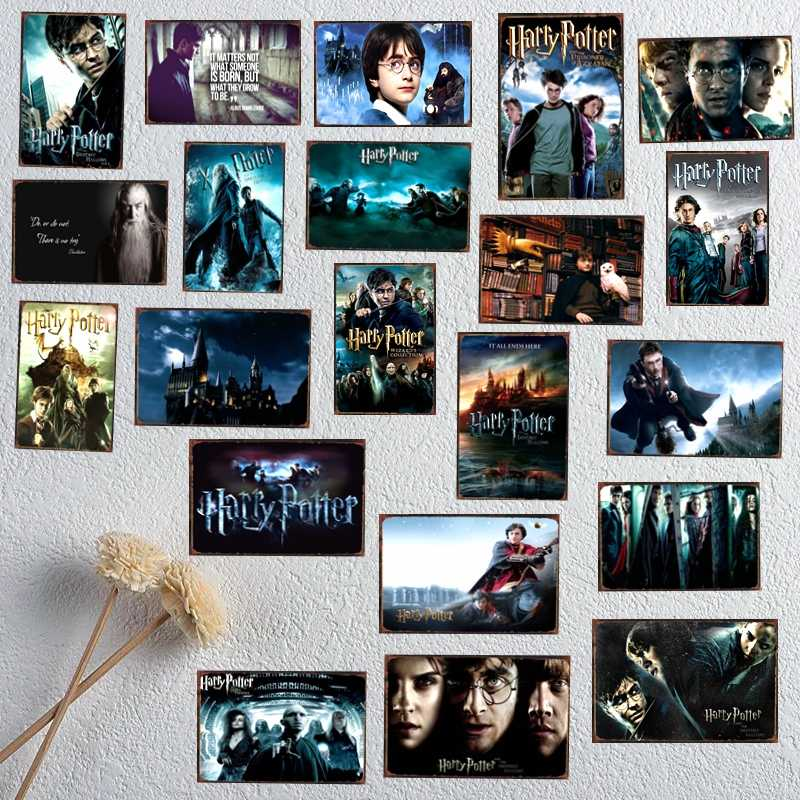 Harry Potter Classic Movie Tin Metal Signs Vintage Plaque Painting Bar Shop Home Wall Art Kid's Room Decor 30X20CM DU-1484