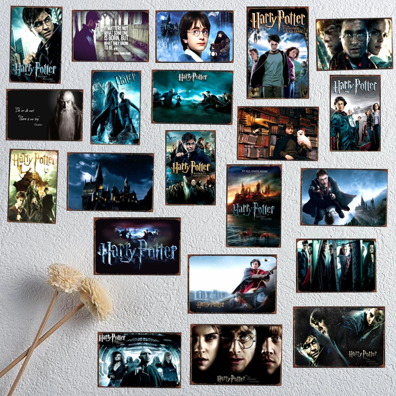 Harry Potter Classic Movie Zinn Metall Zeichen Vintage Plaque Malerei Bar Shop Home Wand Kunst Kinderzimmer Decor 30X20 CM DU-1484