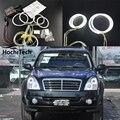 HochiTech ccfl angel eyes kit белый 6000 К ccfl halo кольца фара для Ssangyong Rexton 2006 2007 2008 2009 2010 2011