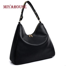 Miyahouse England Style Shoulder Bag Solid Color PU Leather Messenger Bag For Female Large Capacity Crossbody Bag For Women