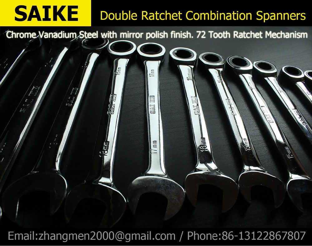 Ratcheting Combination Wrench  Set Hand Tools for Car Repair Torque and gear spanner and A Set of Key-in Wrench from Tools