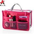 Attro-Yo! 2016 bolsos de las mujeres Bolso Del Maquillaje Del Organizador de Nylon de Múltiples Funciones de Las Mujeres Casos Cosméticos de Viaje neceser kits LM2136