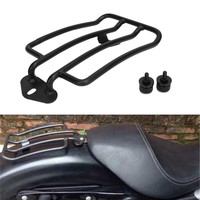 Motorcycle Black Solo Seat Backrest Luggage Rack With 2 PCS Bolt Nut For Harley Sportster XL 883 1200 2004 2015 Luggage Carrier