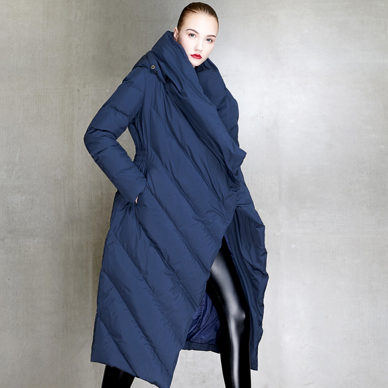 2019 new winter and autumn women's duck   down     coat   jackets long warm thick fashion ins