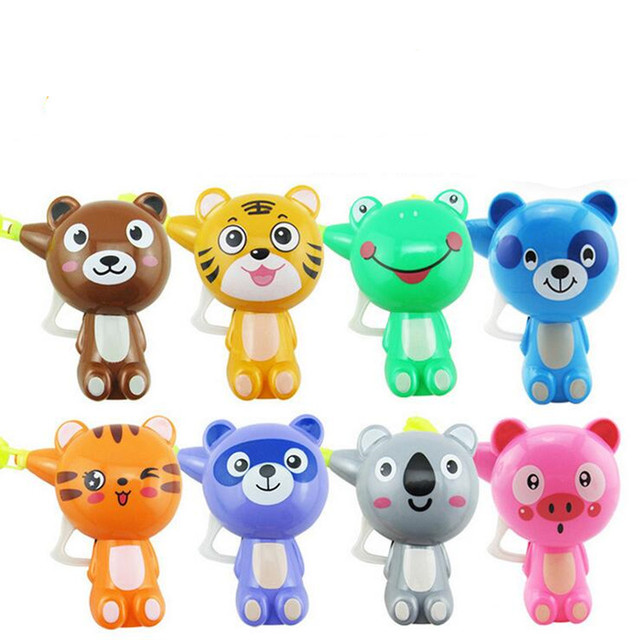 Cartoon Animal Bubble Gun Kids Children Mini Water Sports Summer Beach Toys Birthday Party Favor