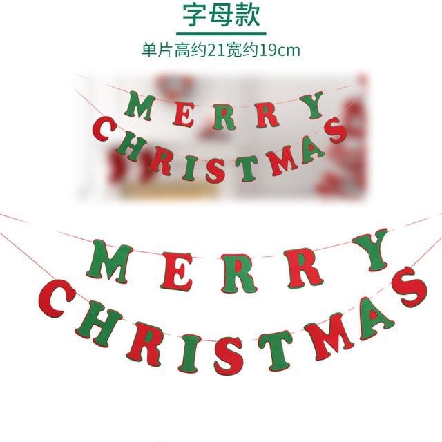 Frohe Weihnachten Familie.Us 4 4 1 Stücke Frohe Weihnachten Banner Wimpel Girlande Familie Abendessen Partei Fahnen Bunting Dekoration Nehmen Foto Werkzeuge Kinder Geschenk