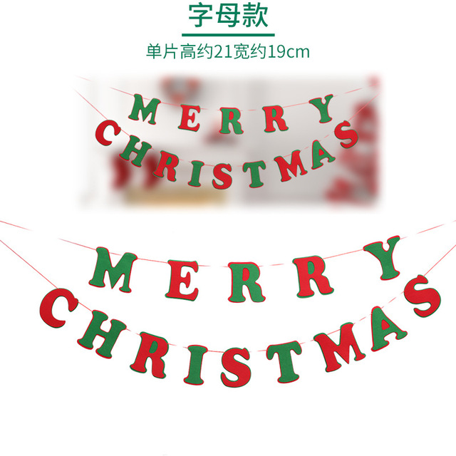 1pcs merry christmas banner pennant garland family dinner party