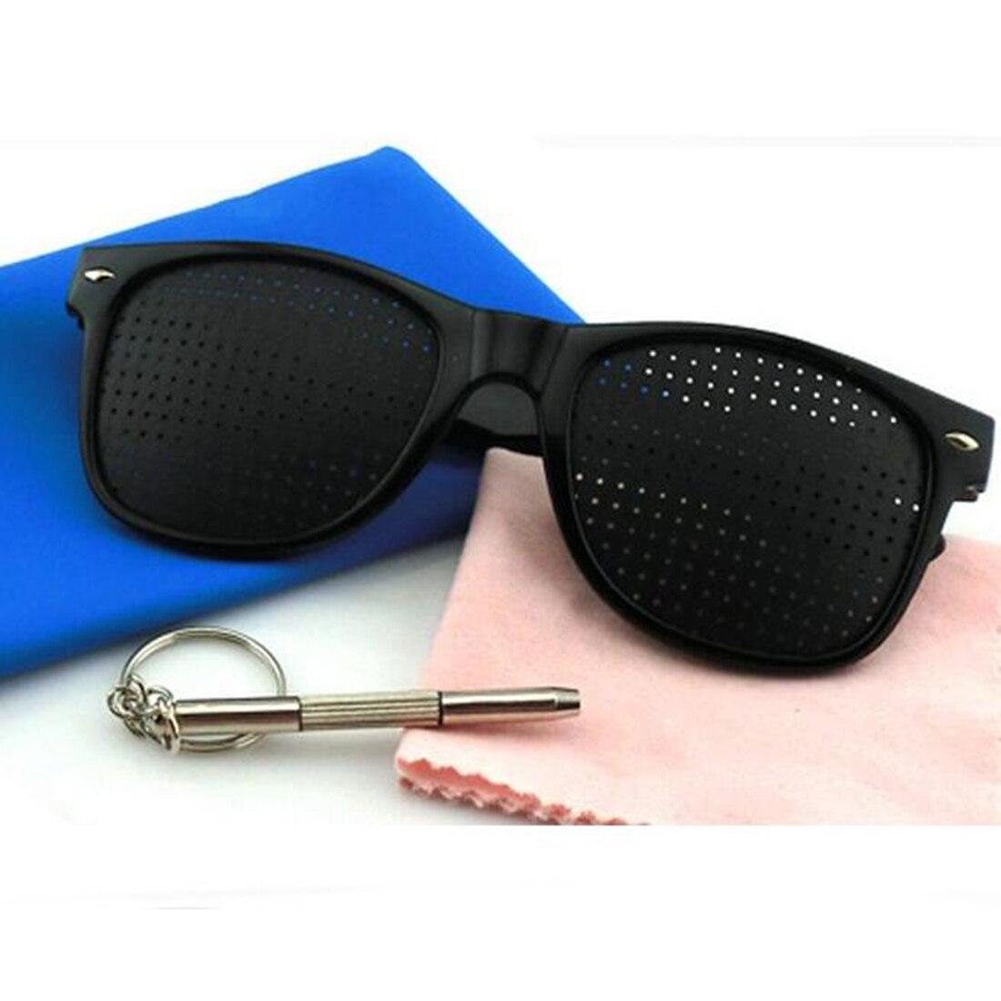 Men Women Anti-myopia Eye Exercise Improver Glasses Eyesight Natural Stenopeic Glasses Vision Care Pin Hole Sunglasses