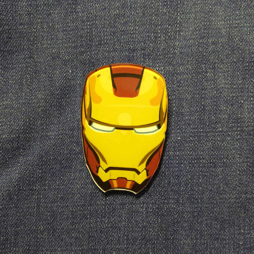 Acrylic Bros Marvel Iron Man/Batman/Superman/Kapten Amerika Pakaian Lencana Ikon Di Ransel Bros lencana