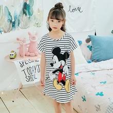 Ночная рубашка для девочек; Новинка г.; летняя модная одежда принцессы с героями мультфильмов; Длинная детская одежда для сна; милые детские пижамы; подарки на день детей