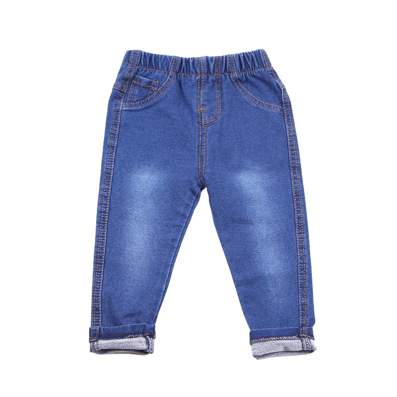 4 Colosrs Kids Clothes 2016 spring autumn children's clothing girls boy jean Slim pants  knitted stretch denim jeans trousers