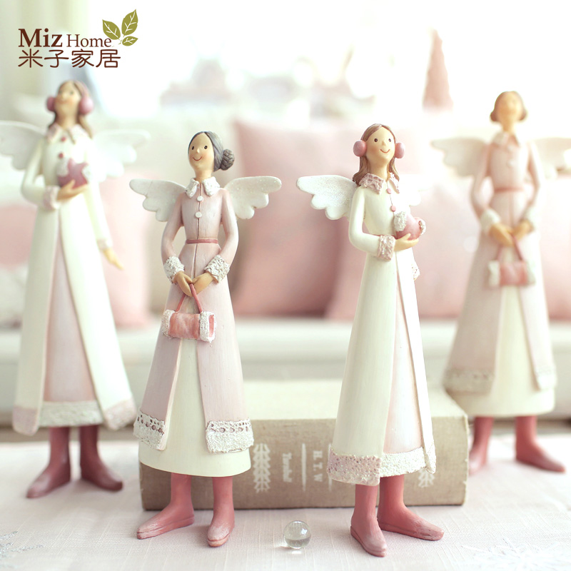 Buy Doll Furnishing Articles Resin Crafts Home Decoration: Online Buy Wholesale Black Angel Figurines From China