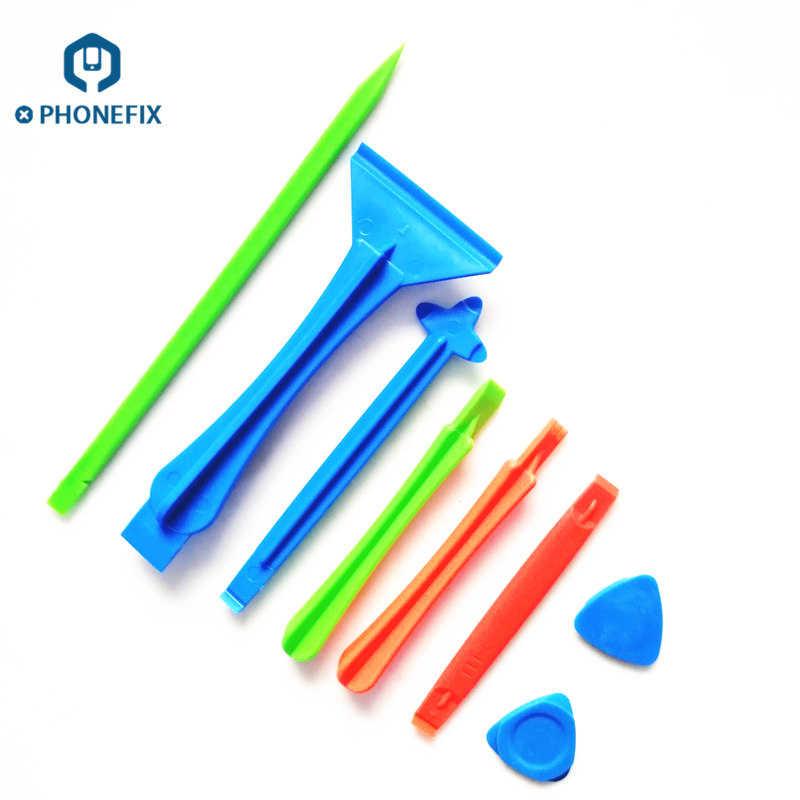 PHONEFIX 8 in 1 Plastic Pry Tools Kit Spudger Set Opening Tools for iPhone Repair Screen Repair Kit Opening Pry Tools