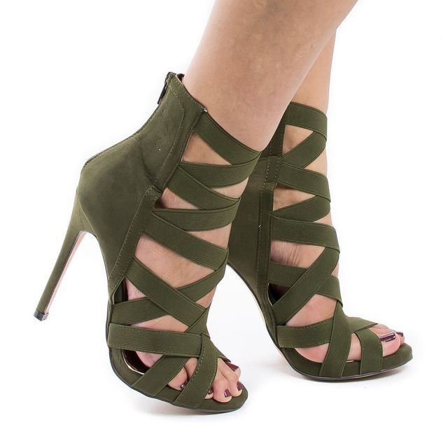 Big size 34-43 New 2019 Women Heeled Sandals stretchy Bandage Ankle Strap Pumps Super High Heels stiletto Heels Lady Shoes #270