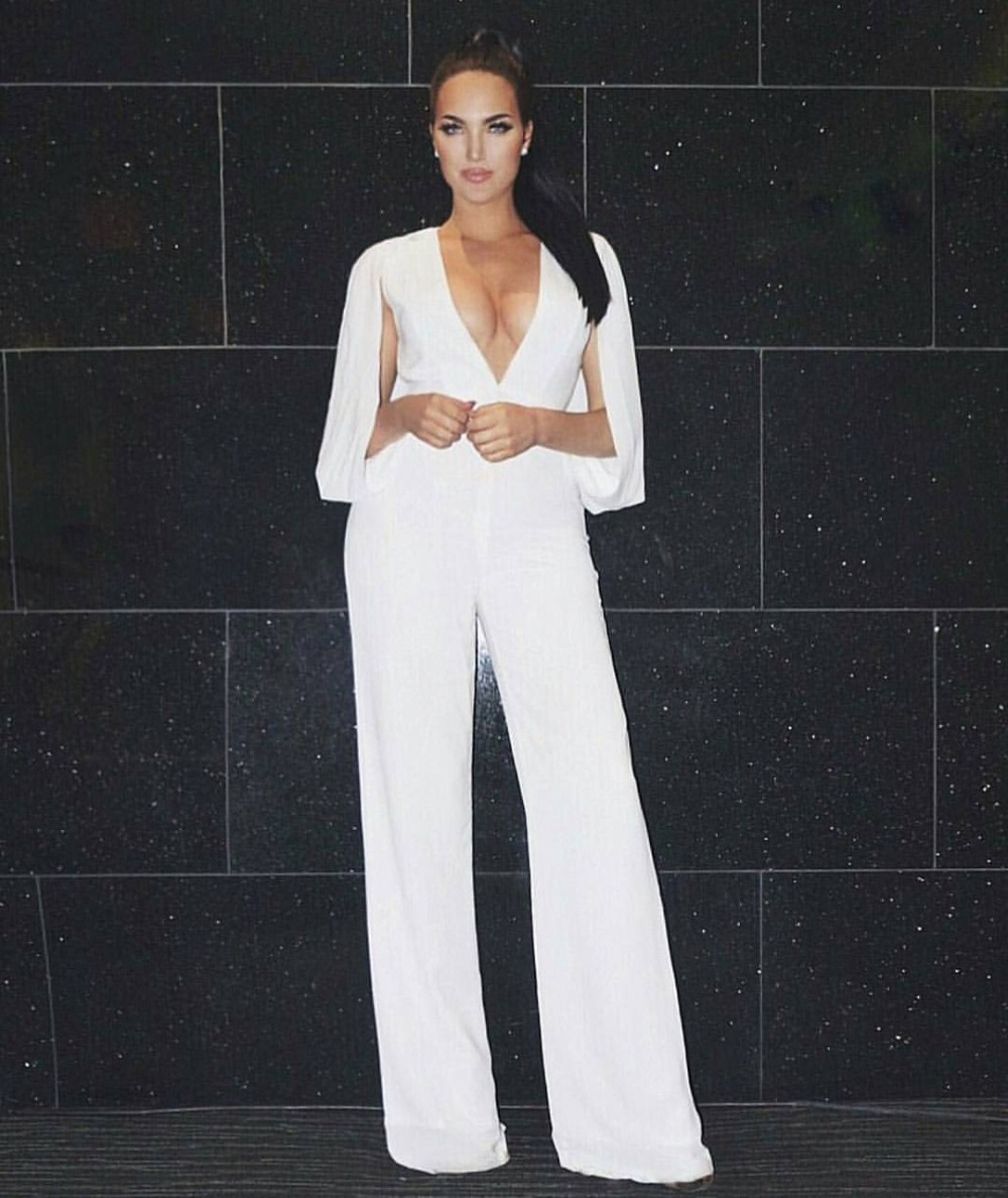 Images of White Elegant Jumpsuit - Reikian