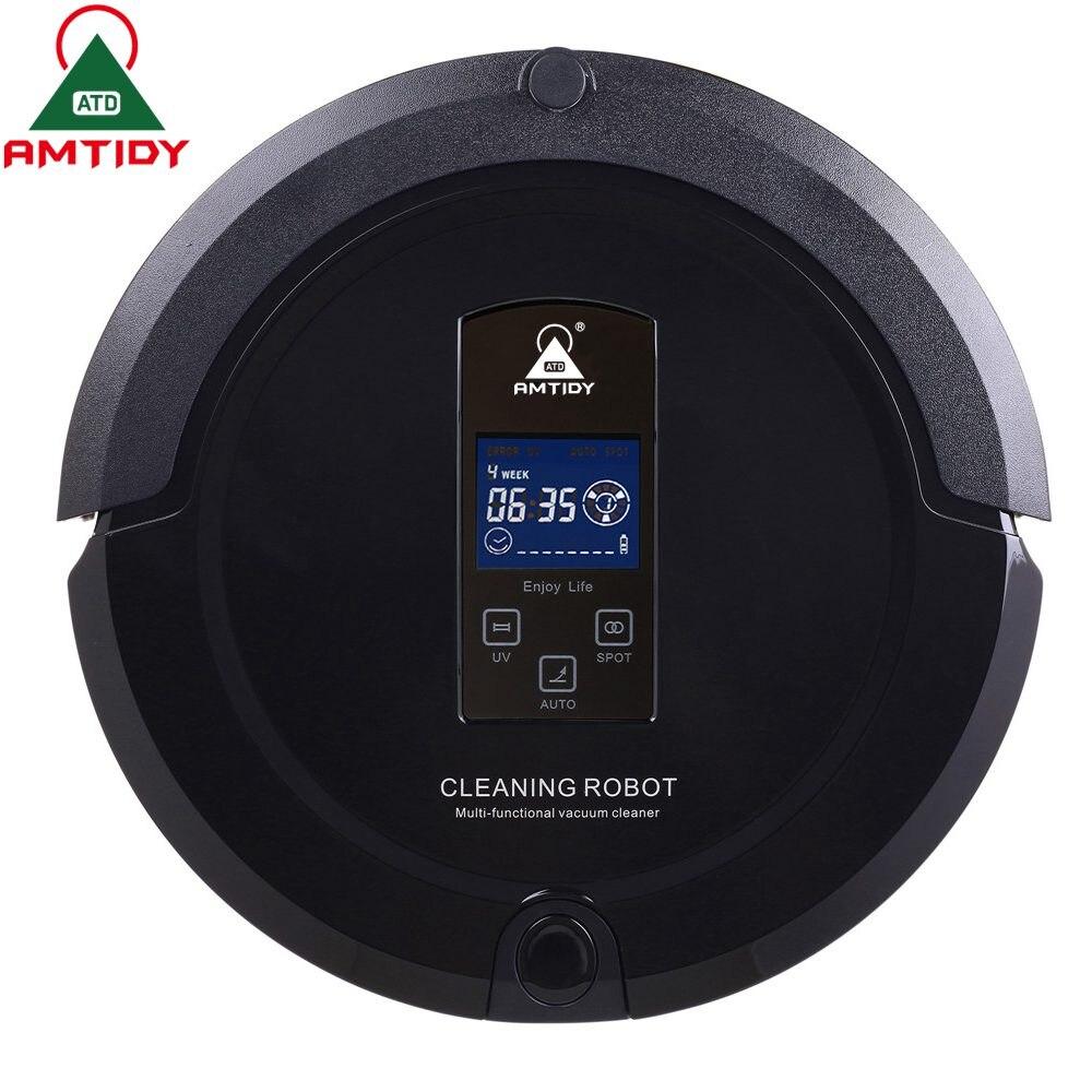 Amtidy Intelligent Robot Vacuum Cleaner Self Charge Remote cs