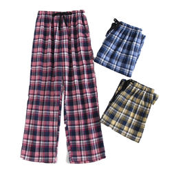 2019 плюс размеры хлопок для мужчин сна низ Комфорт пижамы простой свободная пижама брюки для девочек Pijamas мужской Sheer Брюки домашняя одежда