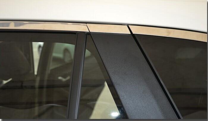 Оконная нержавеющая отделка боковое окно верхняя отделка комплект подходит для Mazda CX-5 cx5 14 шт. в комплекте