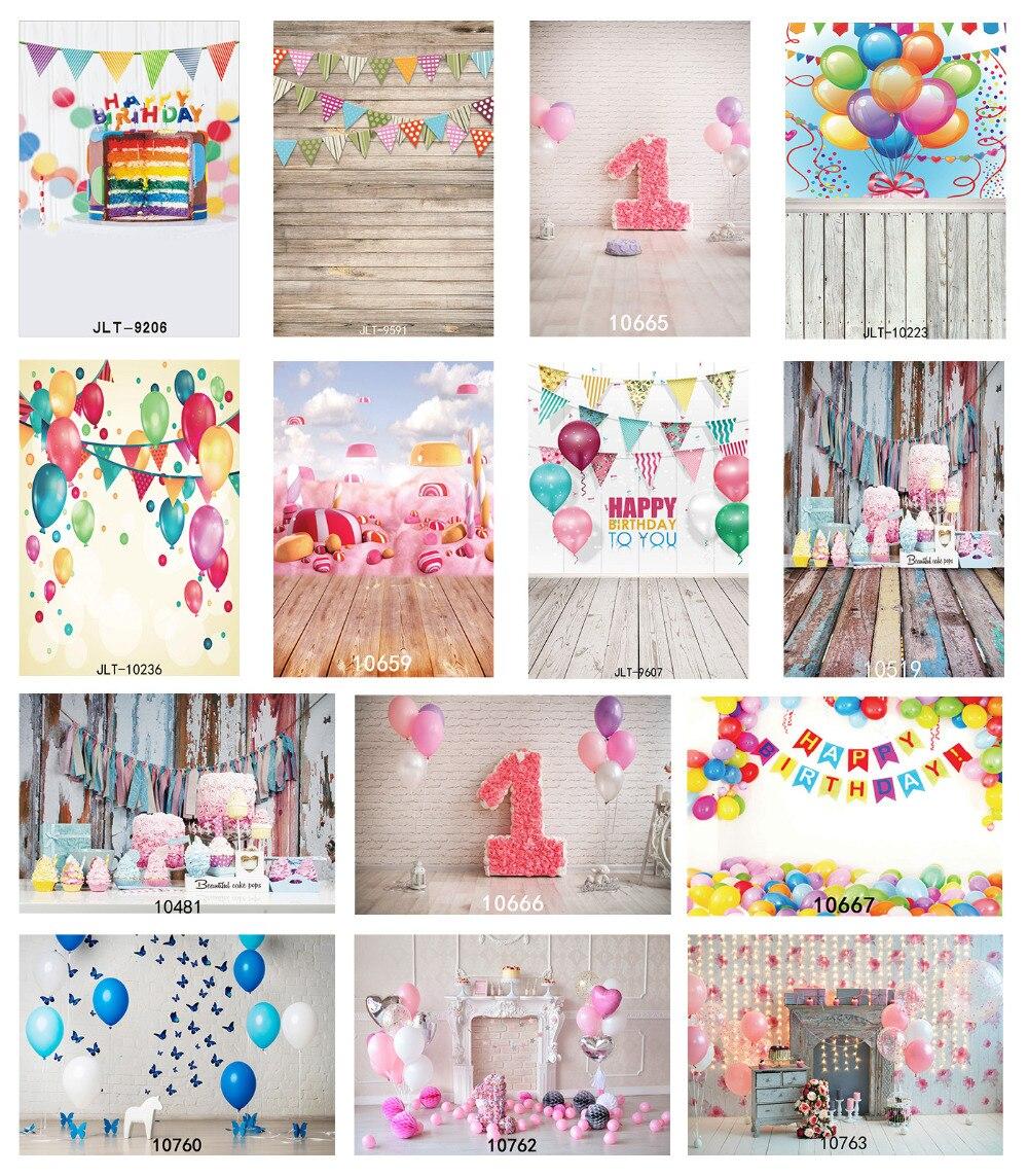 Photographic Background 3X5ft/5X3ft Vinyl Backdrop 1st Birthday Cake Party Fond Studio Photo for Children Baby Newborn Photocall