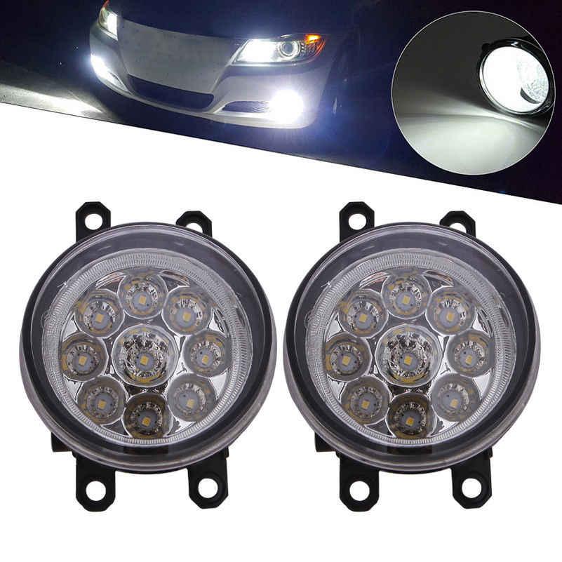 2x 9LED Mistlamp Rijden Lamp High Power Universele LED Bulb Lamp Auto Daytime Lmap Voor Toyota Corolla Camry Yaris l. exus Avalon