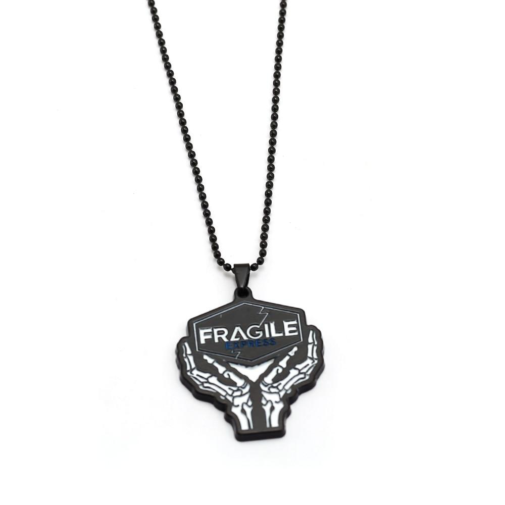 Death Stranding Necklace Metal Pendant Game Necklaces Link Chains Men Accessory