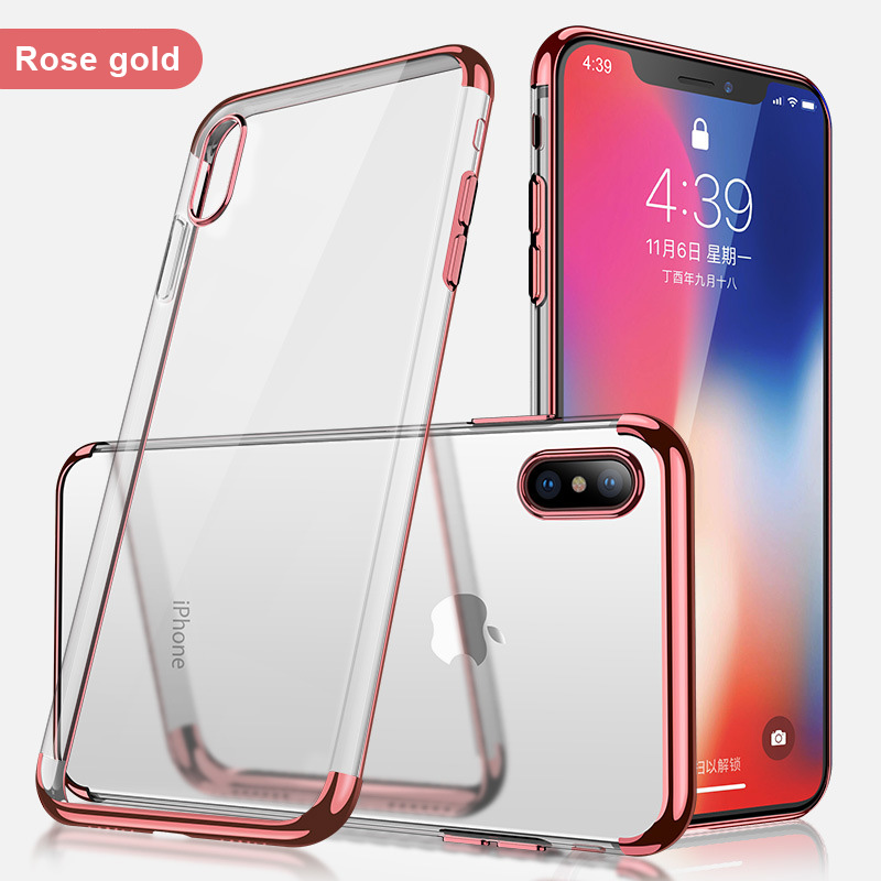 more photos e3426 3babf US $1.82 20% OFF|SIXEVE Ultra Slim Clear Case For iPhone 8 8 Plus 8Plus X  10 XS Max XR Luxury Silicone Gel Mobile Phone Back Cover sleeve Housing-in  ...