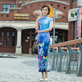 Shanghai Story vestidos Qipao national trend chinese style silk dress modal long cheongsam Qipao long evening dress 6 color