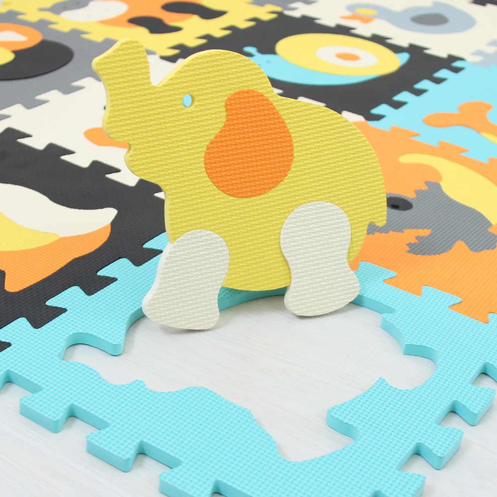 الكرتون الحيوان نمط السجاد إيفا رغوة مفارش مطبوع عليها أحجيات الاطفال الطابق الألغاز تلعب حصيرة للأطفال طفل تلعب رياضة الزحف الحصير طفل
