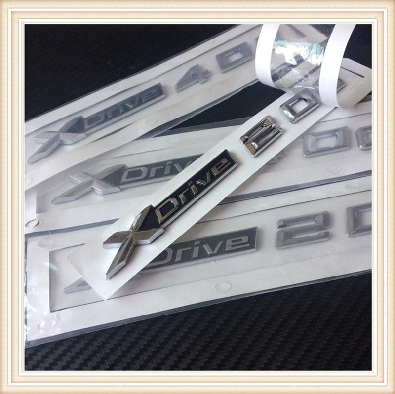 2 unids coche nuevo estilo 3D ABS xdrive 20d 25d 28d 30d 35d 40d 45d 48d 50d side badge emblema etiqueta para X3 E83 F25 X4 F26 X5 E70