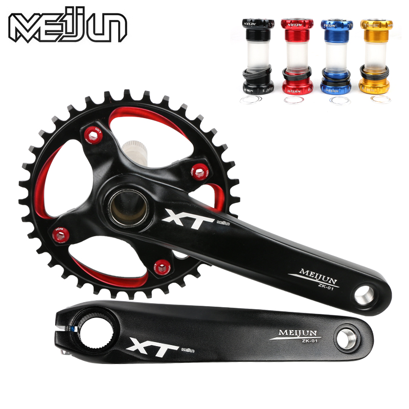 MEIJUN mountain bike, aluminum alloy screw, hollow integral single speed sprocket, 36T tooth disk, bicycle fittings mtb original 11speed chain sprocket bb positive and negative tooth disc34t 36t 38t 40t crankest mountain bike wheel bicycle