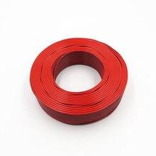 Câble électrique 18awg en cuivre pur, bobine de 100m, fil Flexible rouge + noir, 2 broches, RVB 2x1mm, pour moniteur LED solaire