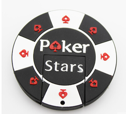 Poker Stars real capacity usb 2.0 USB flash drive 1g 2g 4g 16g 8g 32g 64g Memory Stick Thumb/Pendrive U Disk creative Gift