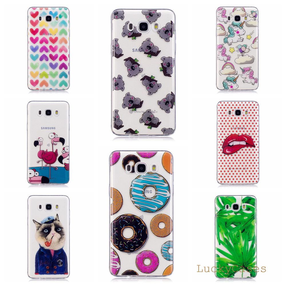 FGHGF Cute Cartoon Painting Phone Cases Clear TPU Case Cover for Samsung J710 J7 2016 phone case ...