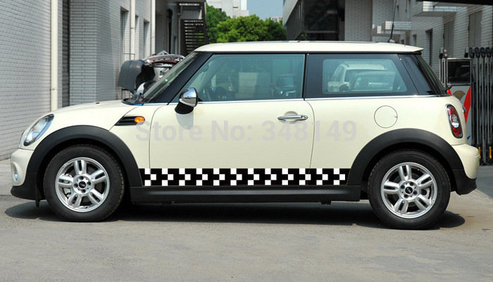 Aliauto Car-styling Car Side Door Sticker And Decals Accessories For Mini Cooper Countryman R50 R52 R53 R58 R56 aliauto car styling side door sticker and decals accessories for mini cooper countryman r50 r52 r53 r58 r56