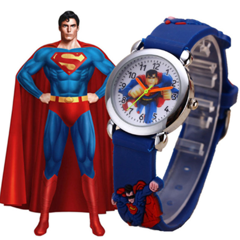 Kids Watches Boy Girl Superhero Children Wrist Watch Reloj Cute Cartoon Child Silicone Clock Baby Montre Enfant Relogio Infantil
