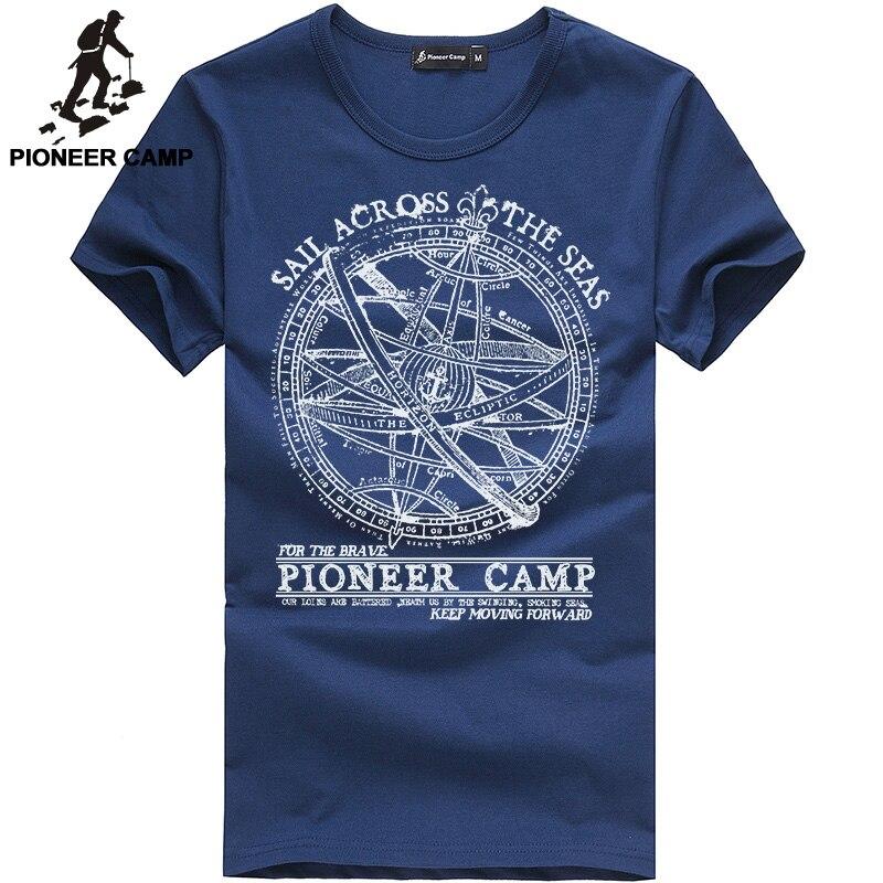 Pioneer Camp 2018 à manches courtes t shirt hommes marque de mode conception 100% coton T-shirt mâle t-shirts de qualité d'impression d'o-cou 405038