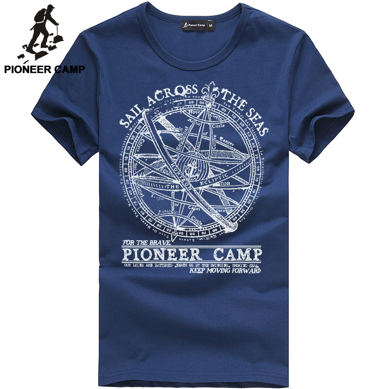 Pioneer Camp 2018 short sleeve t shirt men fashion brand design 100% cotton T-shirt male quality print tshirts o-neck 405038