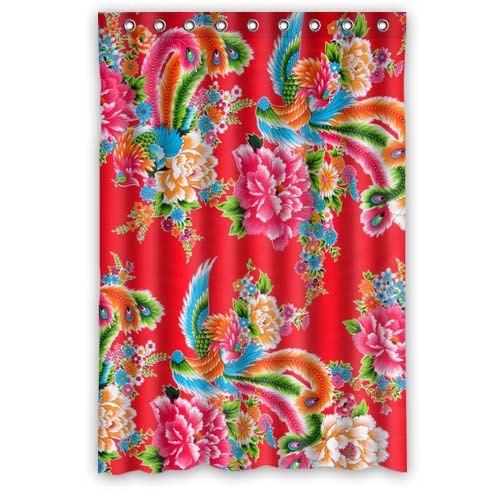 Cannes Film Festival Phoenix Peony Large Cloth Quality 48x72 Shower Curtain Waterproof Bathroom