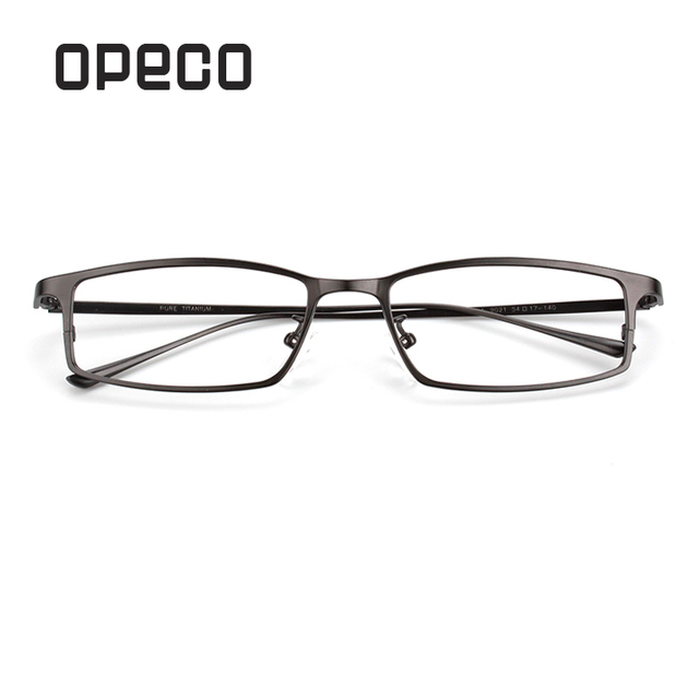 50febeb04e Opeco pure titanium men s business eyeglasses including RX lenses  prescription eyewear frame RX recipe male spectacles 9021-in Prescription  Glasses from ...